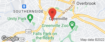 Map of 105 N Spring St in Greenville