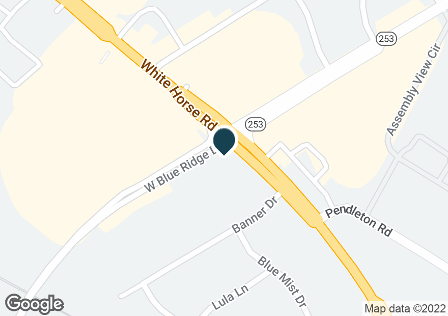 Google Map of6057 WHITE HORSE RD
