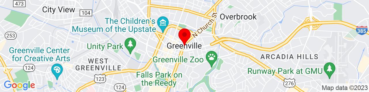 Google Map of 34.85261759999999, -82.3940104