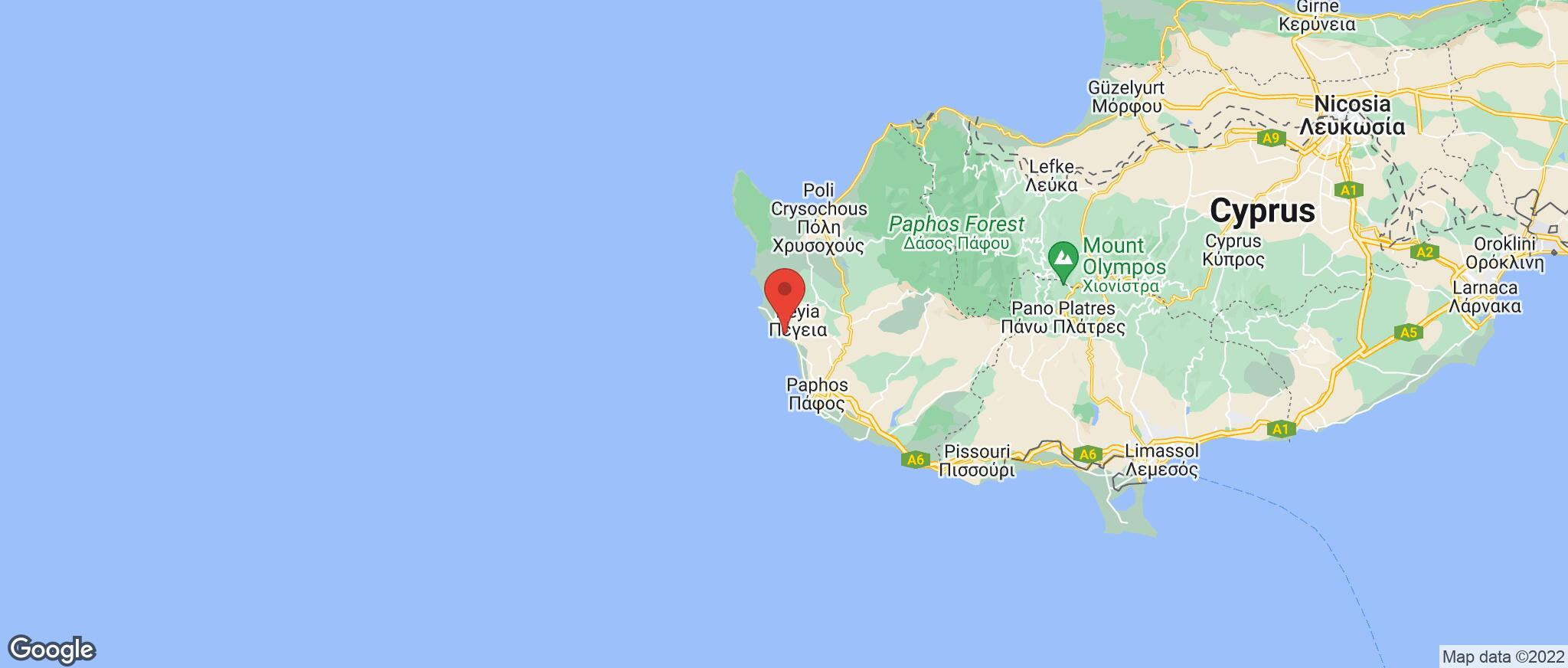 Map showing the location of Coral Bay