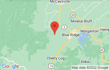 Map of Blue Ridge