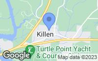 Map of Killen, AL