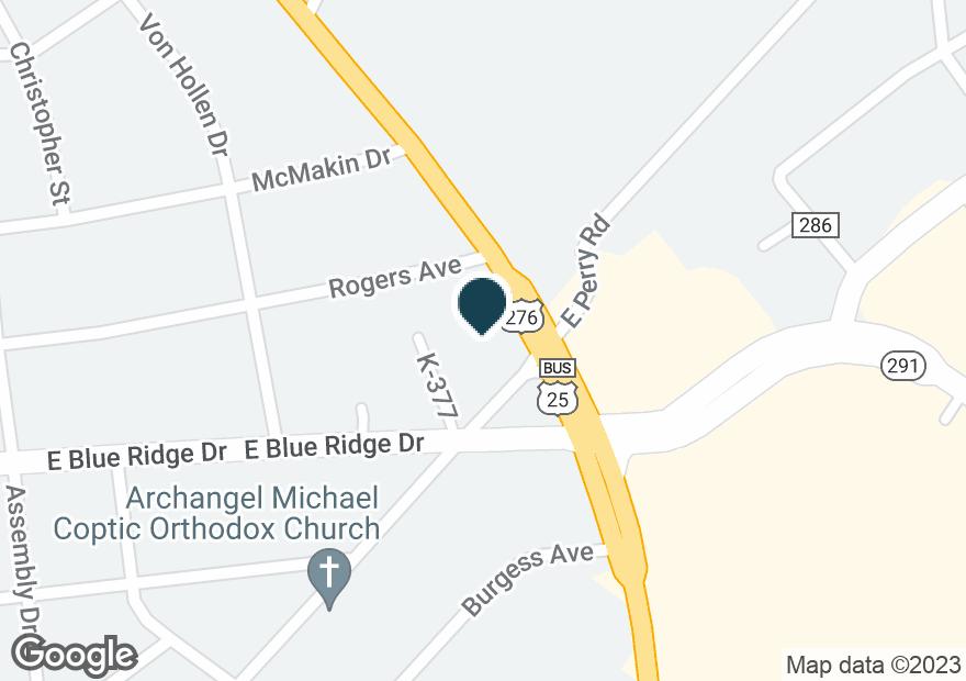 Google Map of1801 POINSETT HWY