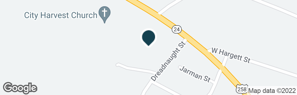 Google Map of9005 RICHLANDS HWY