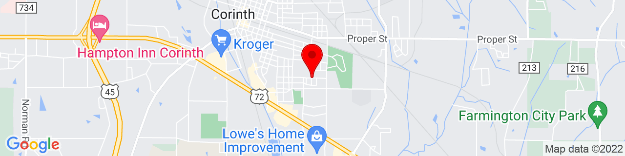 Google Map of 34.9250765, -88.5083089
