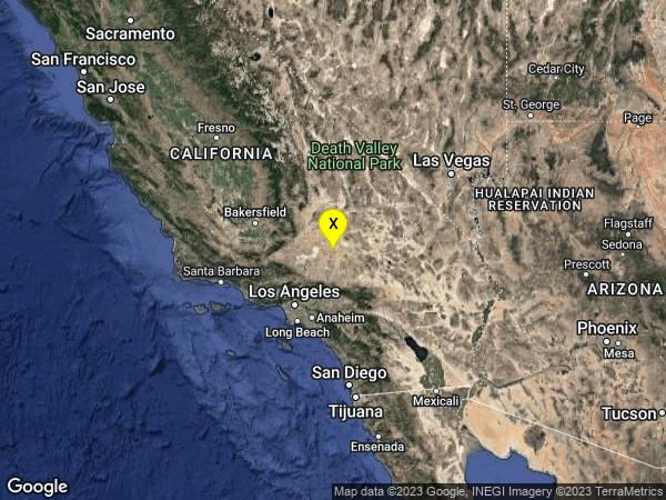 earthquake 17km ESE of Boron, CA