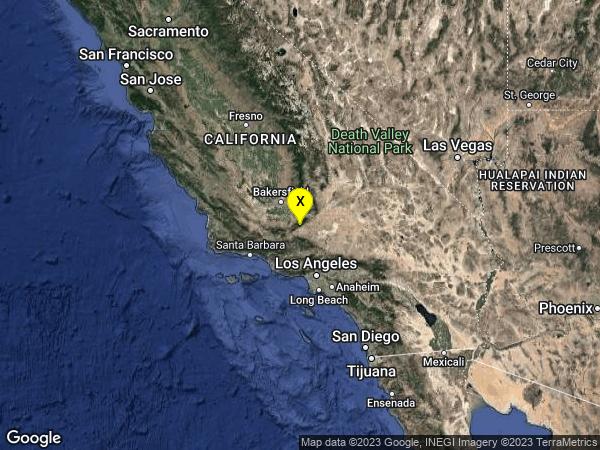 earthquake 19km N of Neenach, CA