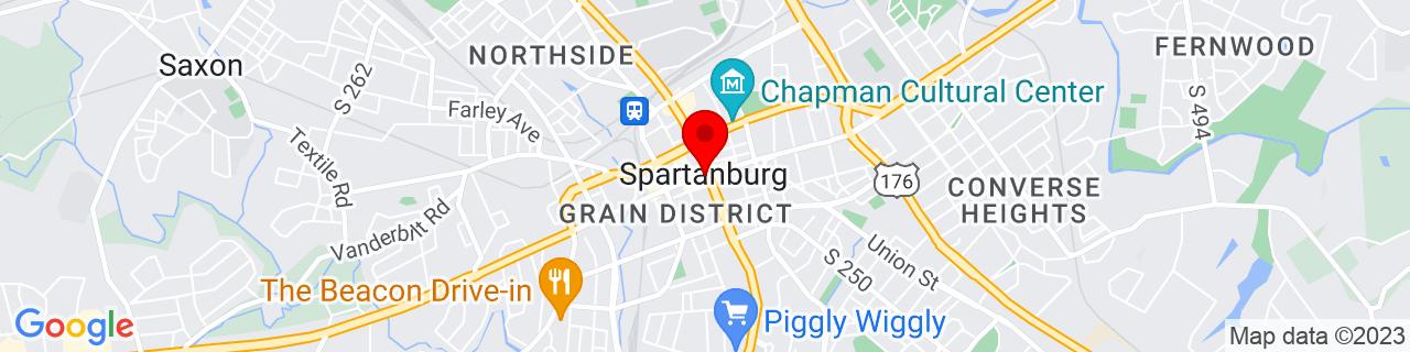 Google Map of 34.94944444444444, -81.93194444444445