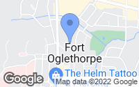 Map of Fort Oglethorpe, GA
