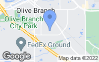 Map of Olive Branch, MS