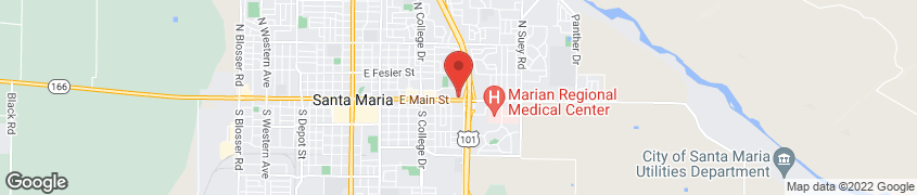 Map of 1019 East Main St. in Santa Maria