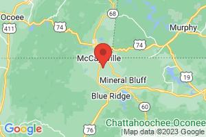 Map of Blue Ridge Mountains