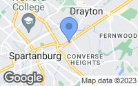Map of Spartanburg, SC