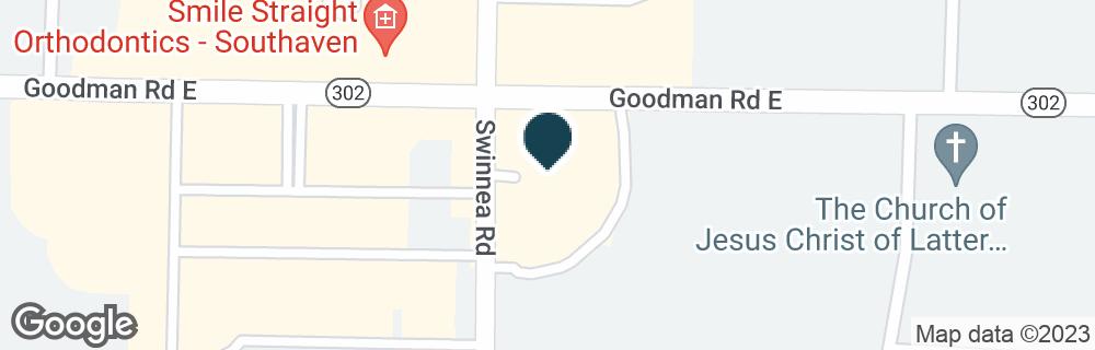 Google Map of1011 GOODMAN RD E