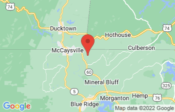 Map of Mineral Bluff