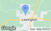 Map of Lexington, AL