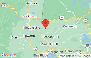 Map of McCaysville