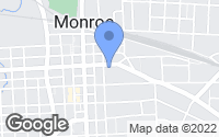 Map of Monroe, NC