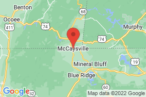 Map of McCaysville