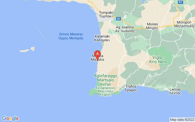 Google Map of RED BEACH  (KOKKINI AMMOS)