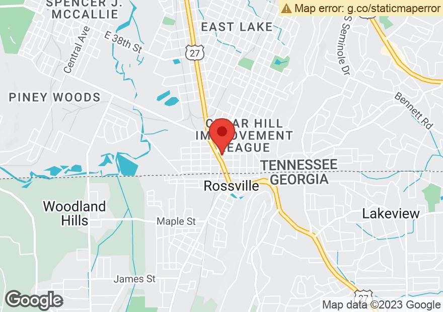 Google Map of 4810 ROSSVILLE BLVD