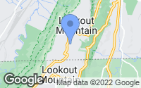 Map of Lookout Mountain, TN