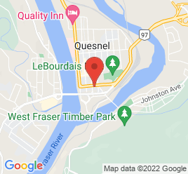 Google Map of 340+Carson+Avenue%2CQuesnel%2CBritish+Columbia+V2J+2B3