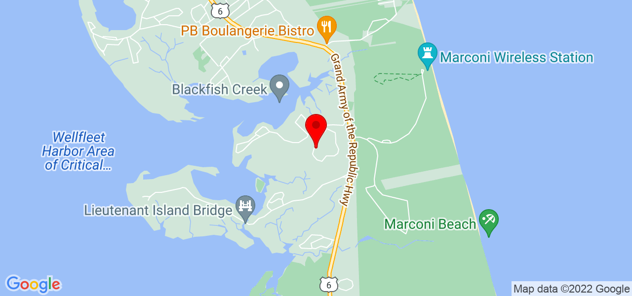 Google Map of 340 Eastwind Cir Wellfleet MA
