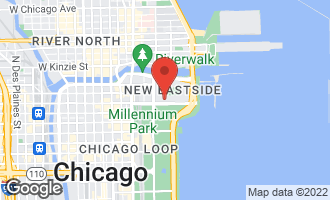 Map of 340 East Randolph Street #205 CHICAGO, IL 60601