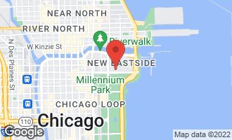 Map of 340 East Randolph Street #603 CHICAGO, IL 60601