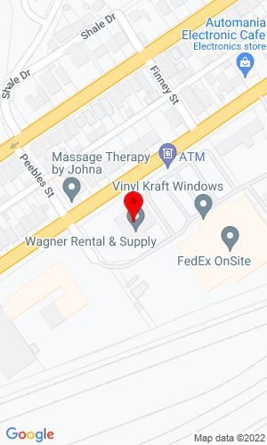 Google Map of Wagner Rental & Supply, Inc. 3400 Rhodes Avenue, New Boston, OH, 45662