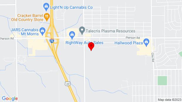 Google Map of 3400 N. Jennings Road, Flint, MI 48504
