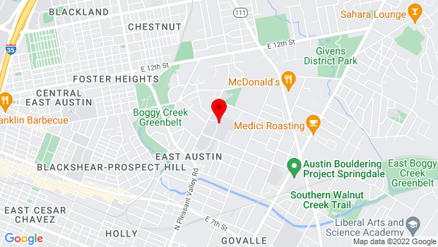 Google Map of 3401 Webberville Road , Austin, TX 78702-3004