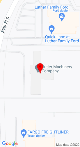 Google Map of Butler Machinery 3402 36th Street SW+Fargo+ND+58104