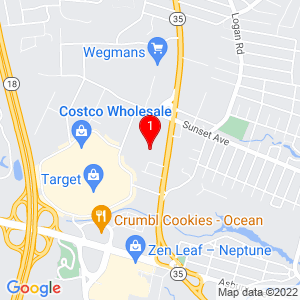 Google Map of 3408 Sunset Ave, Ocean Township, NJ 07712, USA