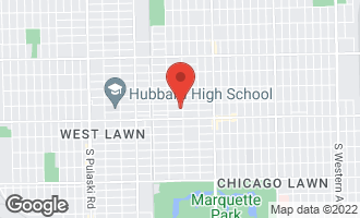 Map of 3408 West 62nd Place CHICAGO, IL 60629