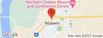 Google Map of 341+-+1st+Avenue+East%2CNipawin%2CSaskatchewan+S0E+1E0