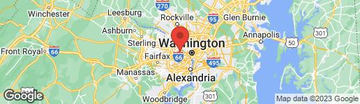 Map of 3411 WOODROW STREET ARLINGTON, VA 22207