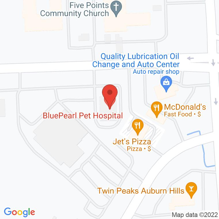 Google Map of 3412 East Walton Blvd., Auburn Hills, MI, 48326