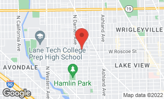 Map of 3418 North Wolcott Avenue #1 CHICAGO, IL 60657