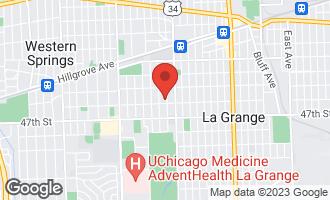 Map of 342 South Park Road La Grange, IL 60525