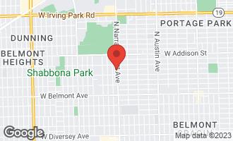 Map of 3422 North Narragansett Avenue CHICAGO, IL 60634