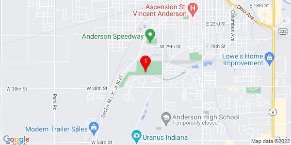 Google Map of 3429 Madison Ave Anderson, IN 46013-4138