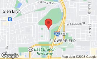 Map of 343 Indian Drive GLEN ELLYN, IL 60137