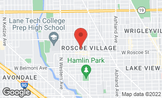 Map of 3430 North Hoyne Avenue CHICAGO, IL 60618