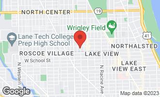 Map of 3438 North Greenview Avenue CHICAGO, IL 60657
