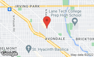 Map of 3439 North Kedzie Avenue CHICAGO, IL 60618
