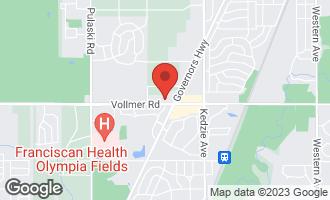 Map of 3439 Vollmer Road #201 FLOSSMOOR, IL 60422