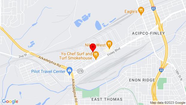 Google Map of 344 Finley Avenue W, Birmingham, AL 35204