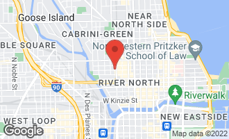 Map of 344 West Huron Street CHICAGO, IL 60654